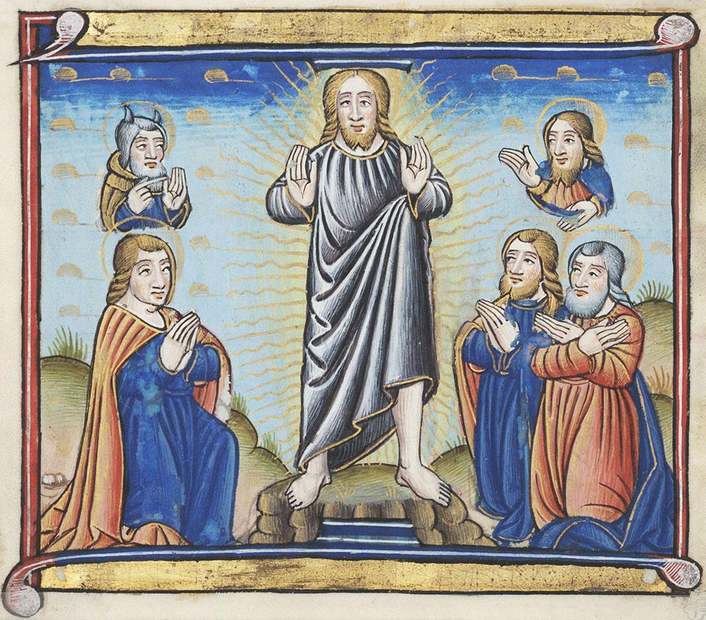 Miniature depicting the Transfiguration of Christ