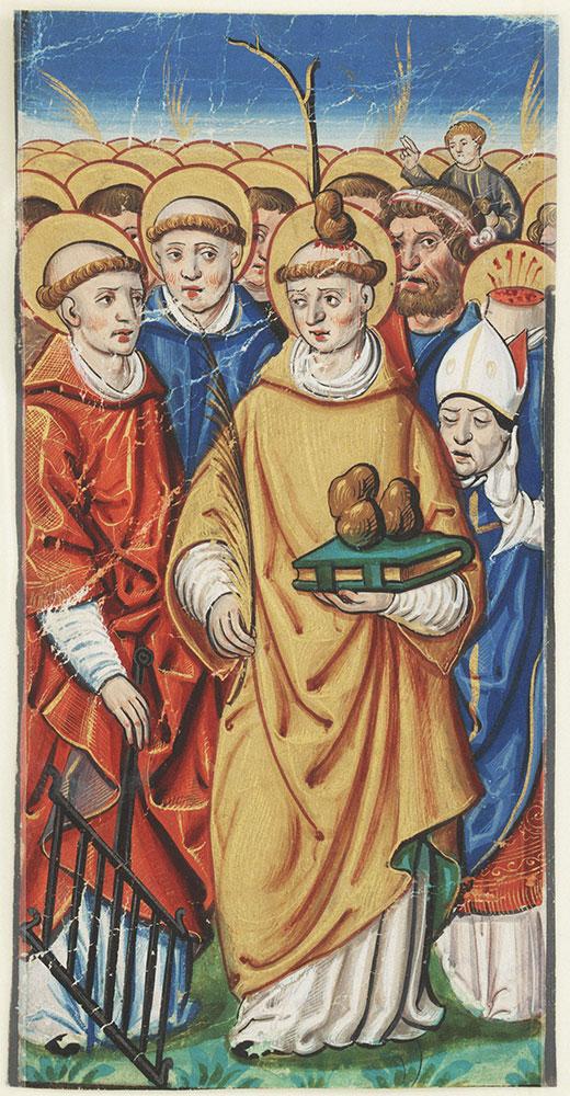 Miniature depicting All Saints