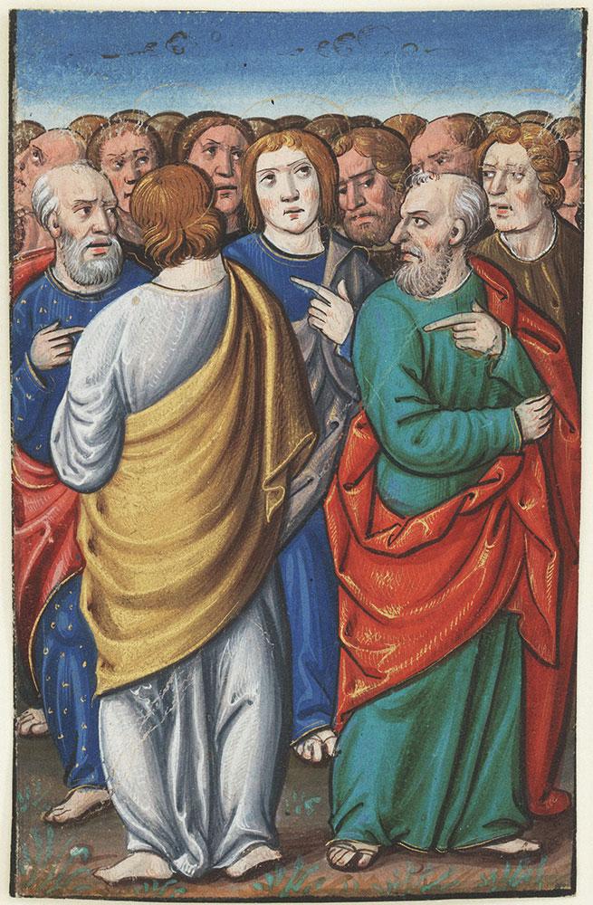 Miniature depicting Disciples