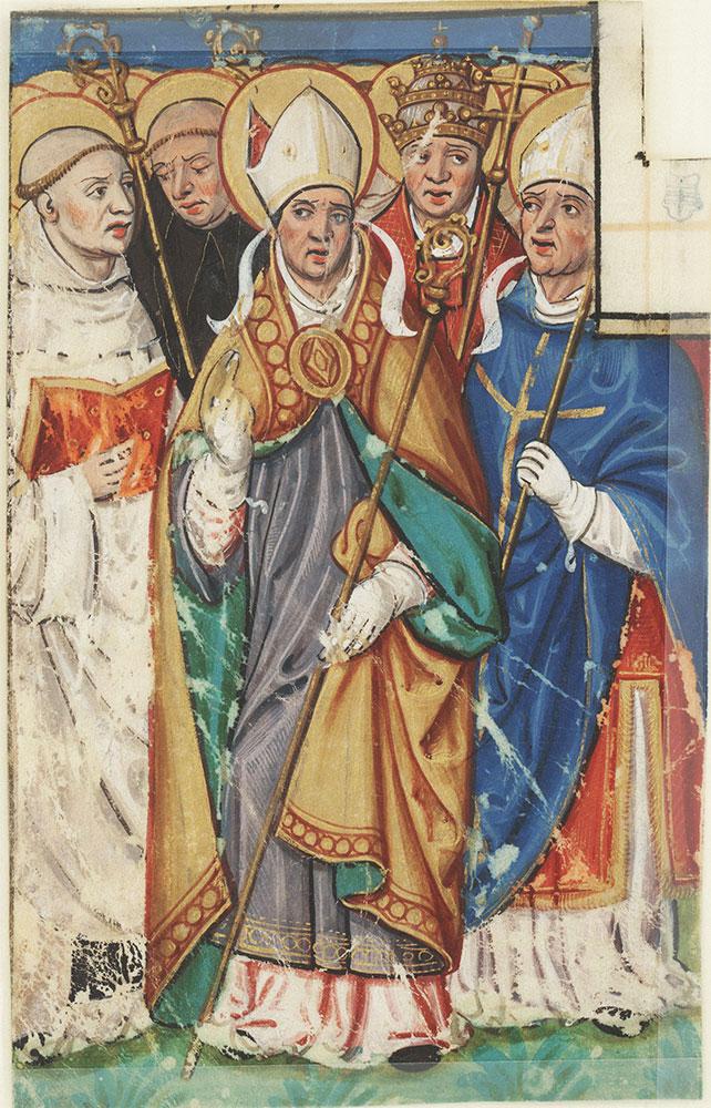 Miniature depicting sainted clergy