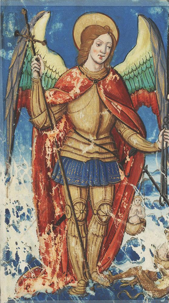 Miniature depicting Michael Archangel