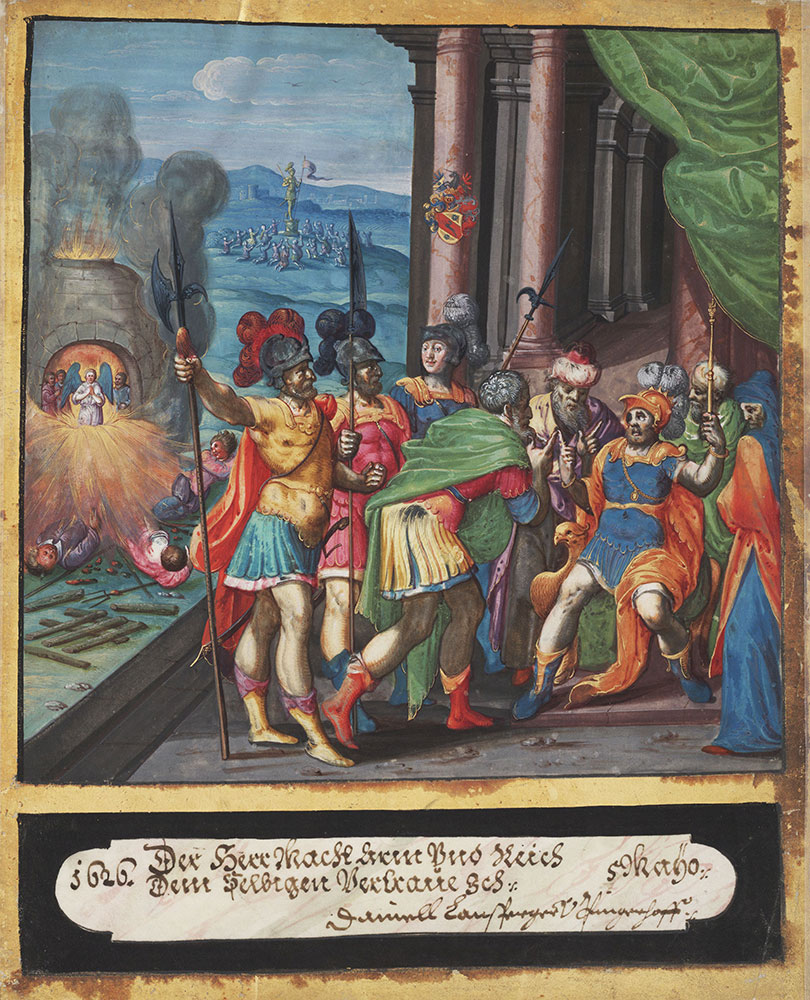 Miniature of Daniel interpreting the dream of Nebuchadnezzar