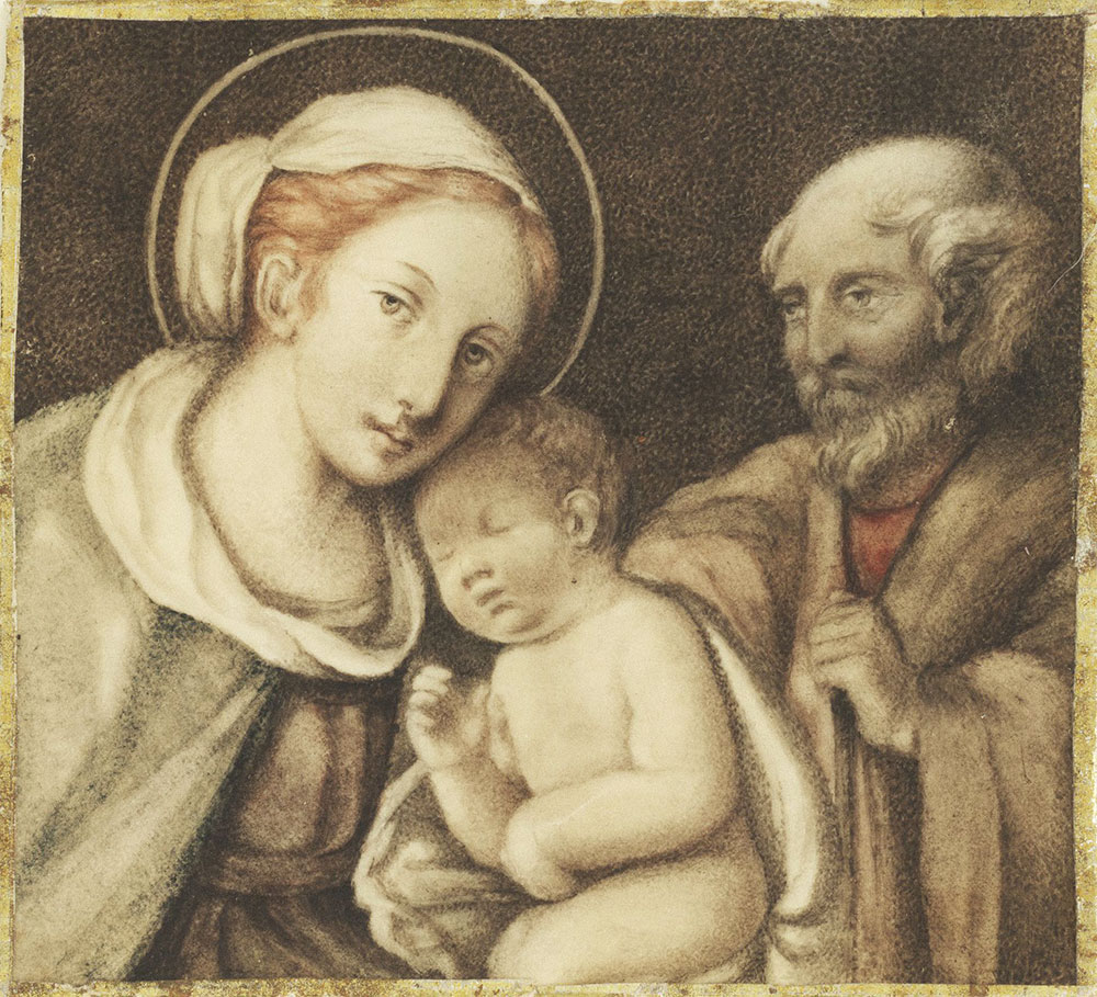 Miniature of the Holy Family