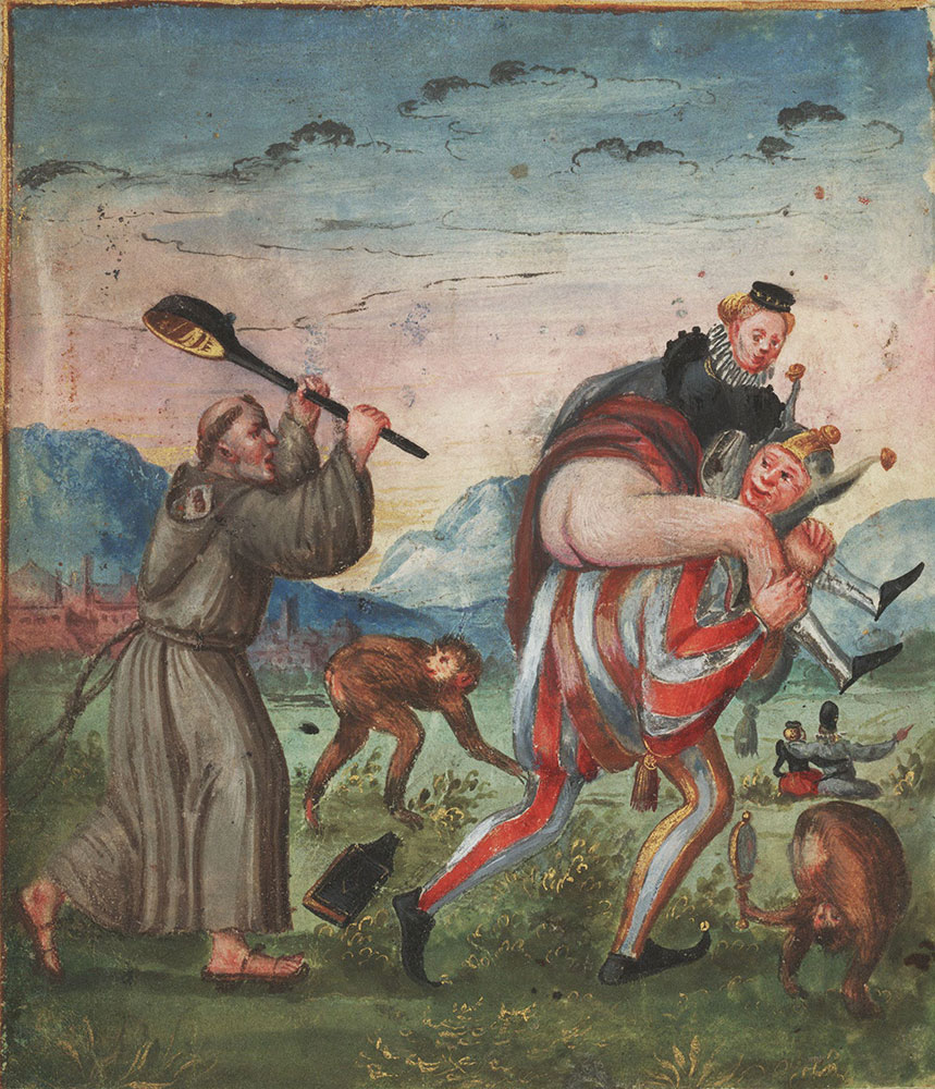 Miniature of St. Anthony resisting temptation