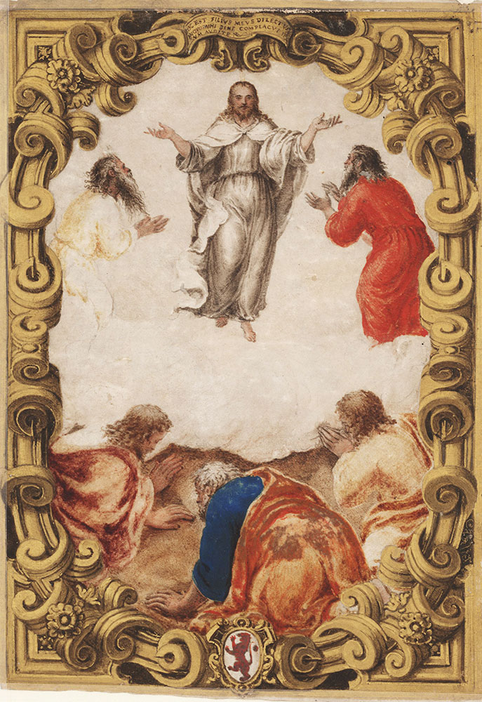 Frontispiece from a Dogale, depicting the Transfiguration