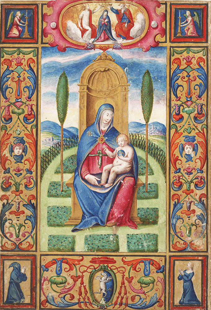 Initial A with the Invocation of the Virgin Mary