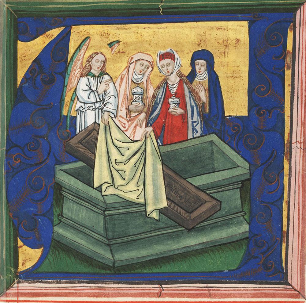 [Three Marys at the tomb]