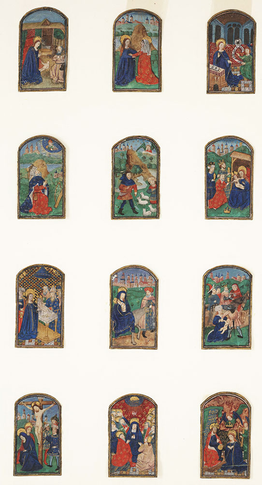12 miniatures with Biblical Scenes