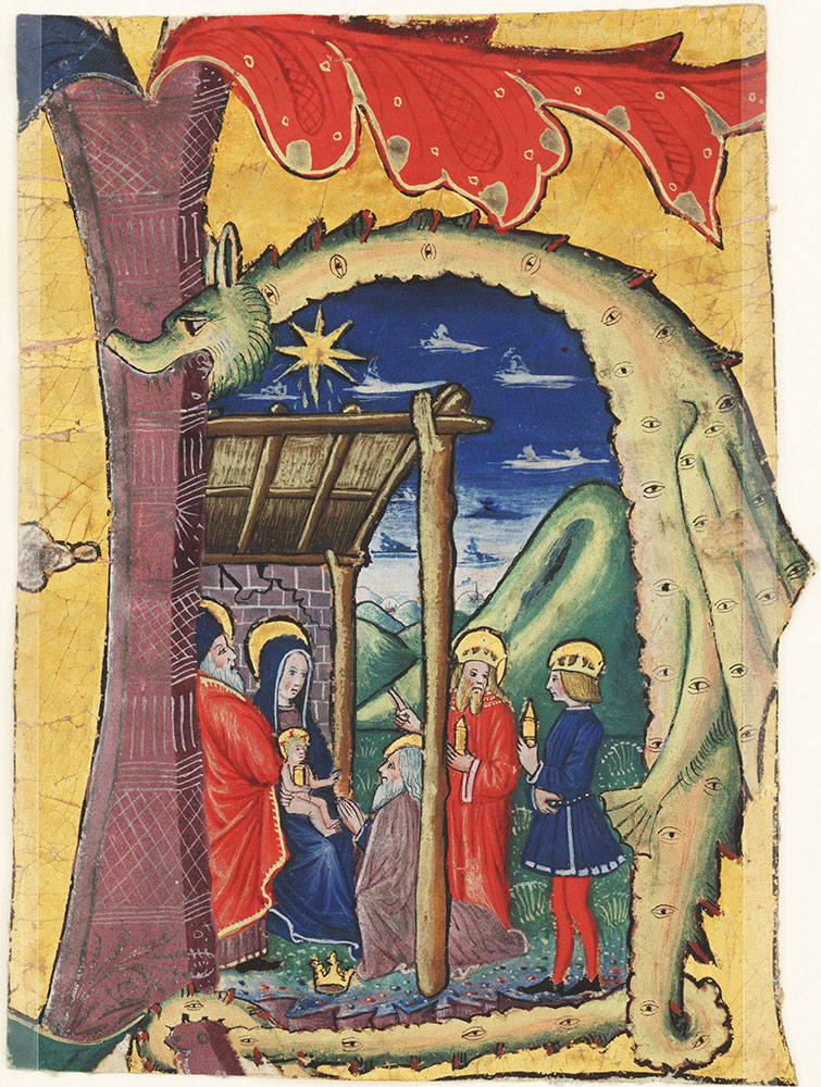 Initial H with the Adoration of the Magi