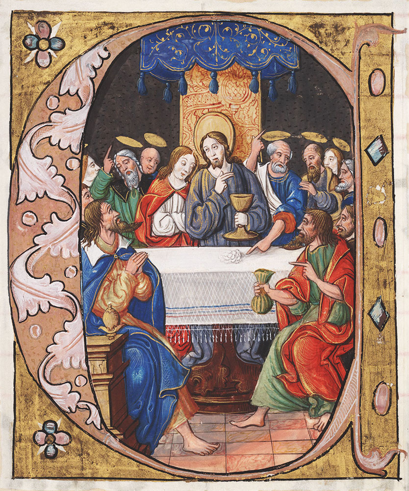 Initial C with the Last Supper