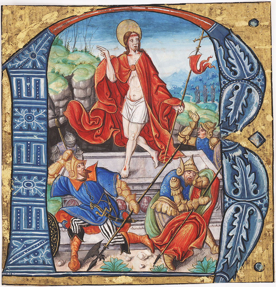 Initial R with the Resurrection