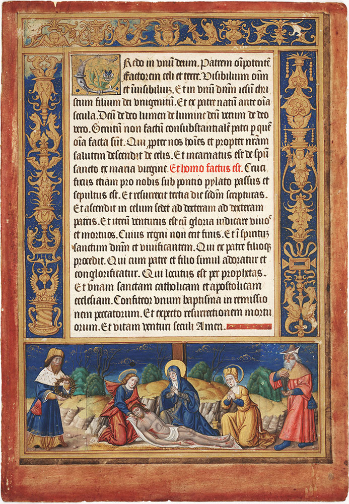 Altar Card with the Deposition from the Cross