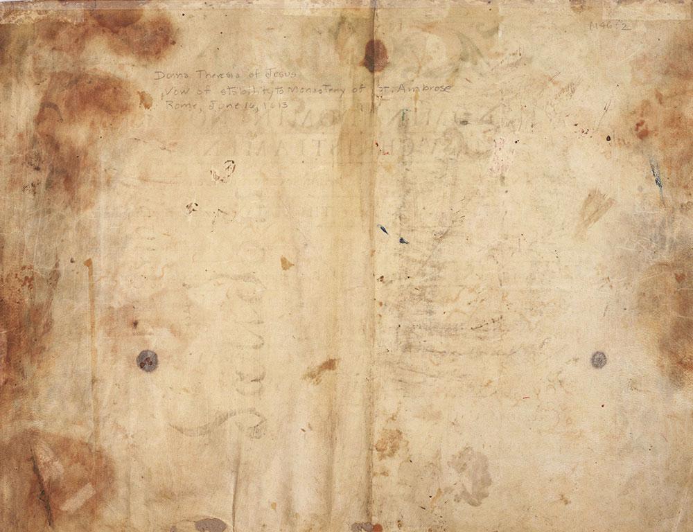 [Verso of Illuminated Manuscript Leaf]