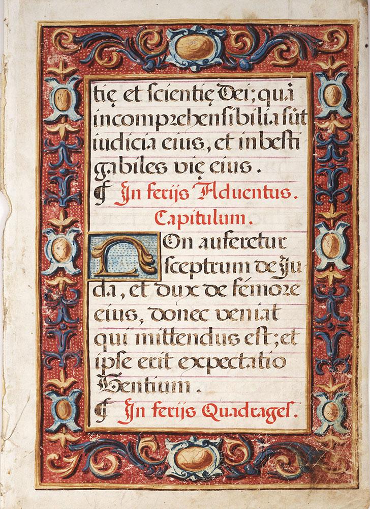 illuminated manuscript border fragment