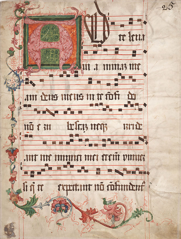 Decorated Initial Music Fragment] - Digital Collections