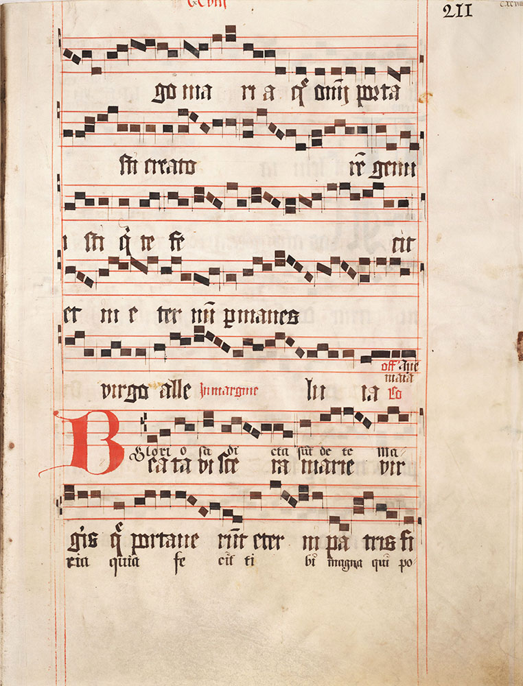 [Music Fragment with Decorated Initial]