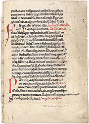 Missal, Gospels and Epistles for Circumcision and Epiphany