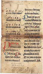 Missal (Pater noster), with neumes