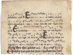 Missal: Holy Saturday, with neumes