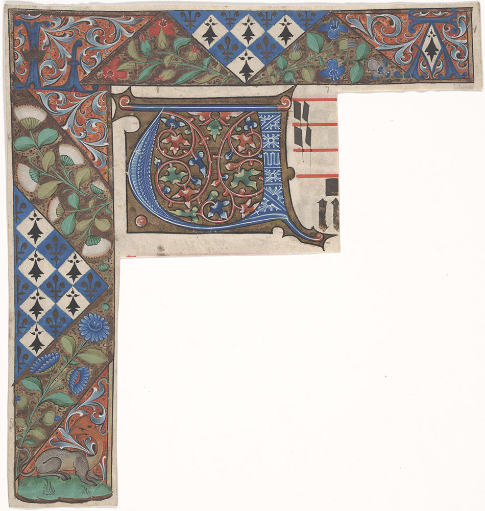 [Illuminated Letter and Partial Border]