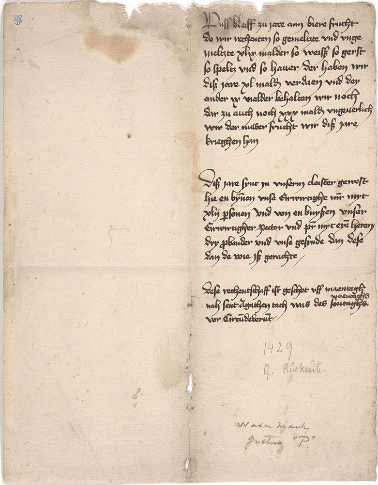 Monastic account book - Digital Collections - Free Library