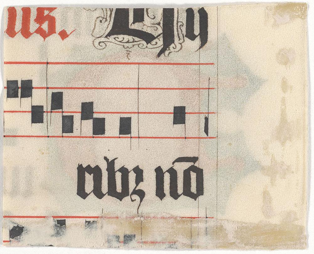 [Illuminated Initial D, Verso]