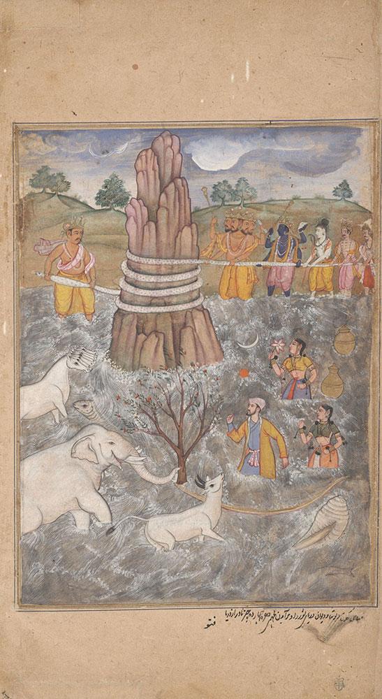 The Gods and Asuras Churn the Ocean of Milk