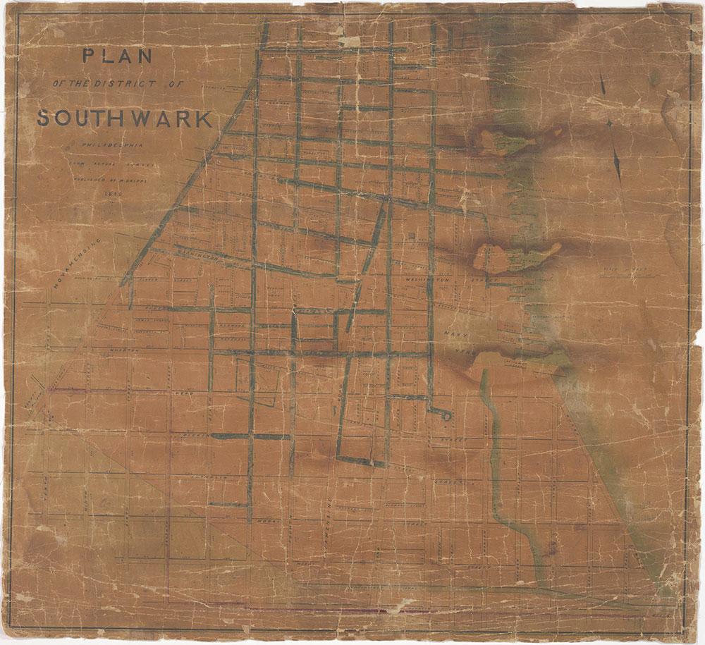 Plan of the District of Southwark, Philadelphia, 1848, map