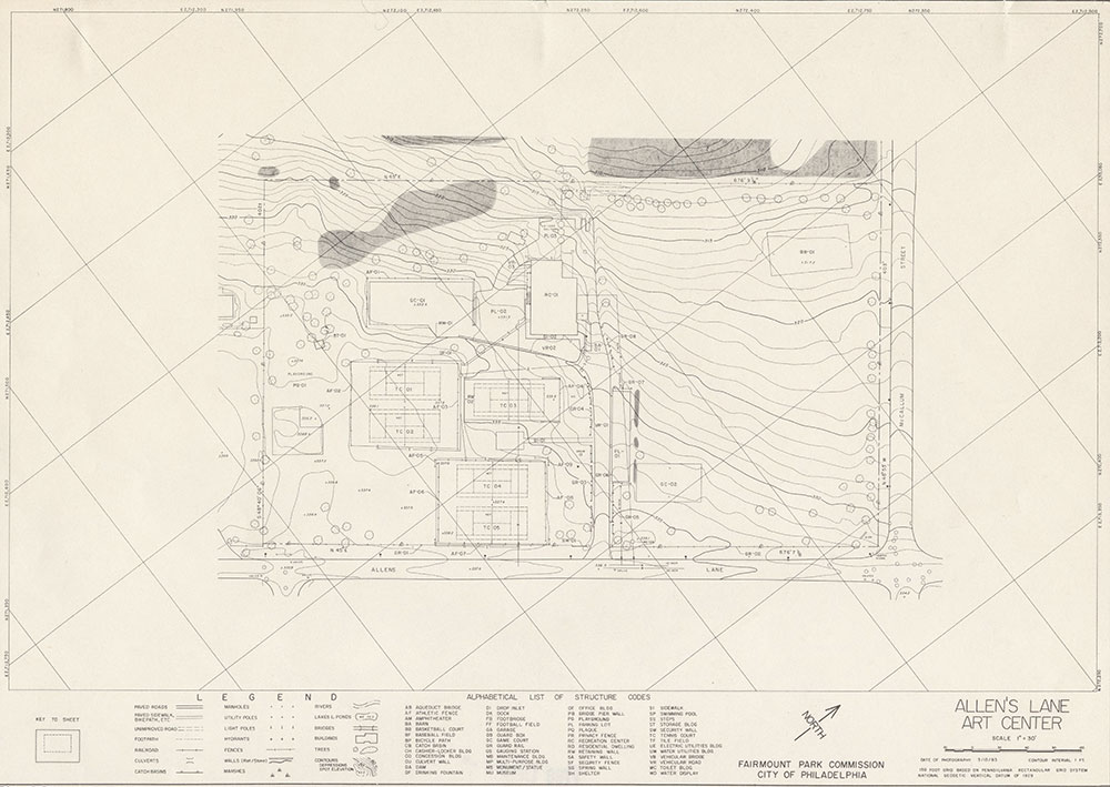 Allen's Lane Art Center, 1983, Map