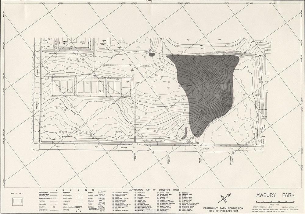 Awbury Park, 1982, Map