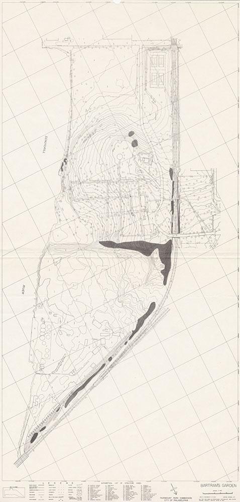 Bartram's Garden, 1983, Map