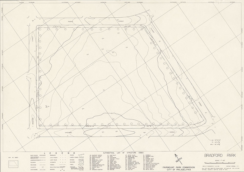 Bradford Park, 1983, Map