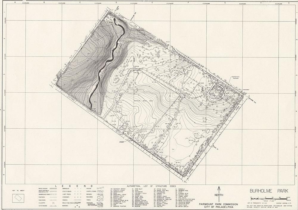 Burholme Park, 1982, Map