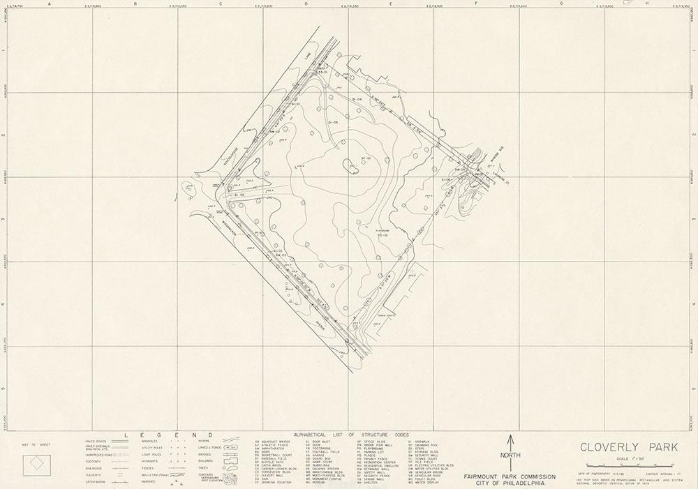 Cloverly Park, 1982, Map
