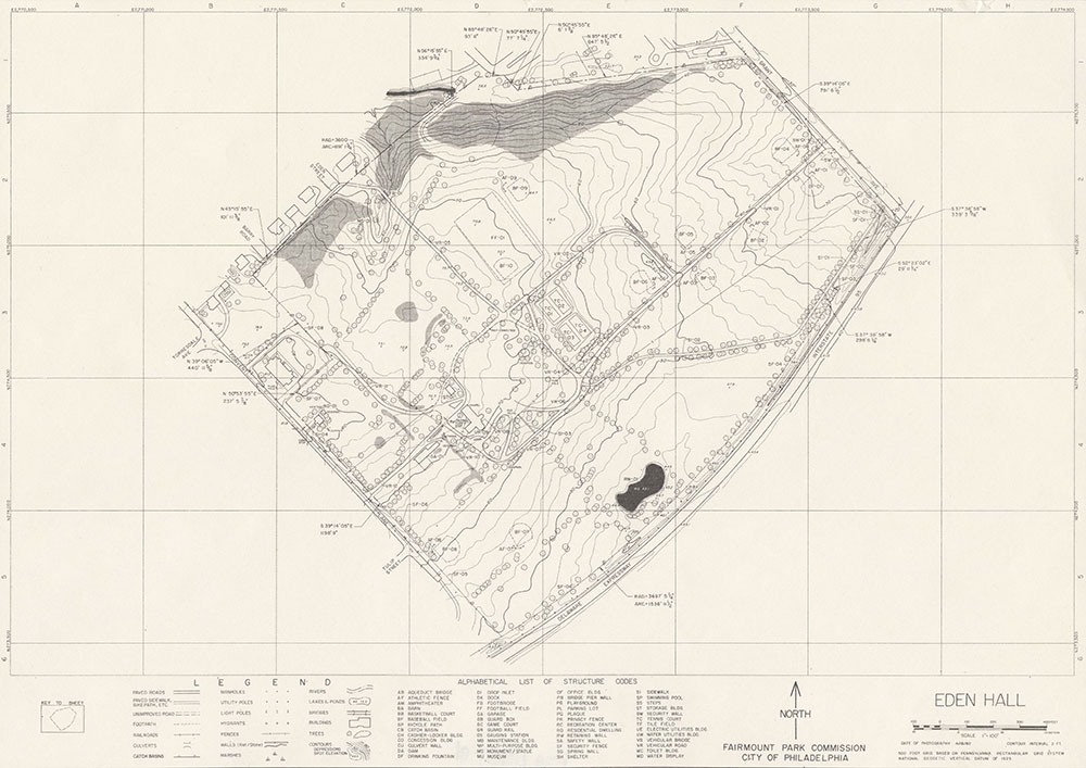Eden Hall Park, 1982, Map