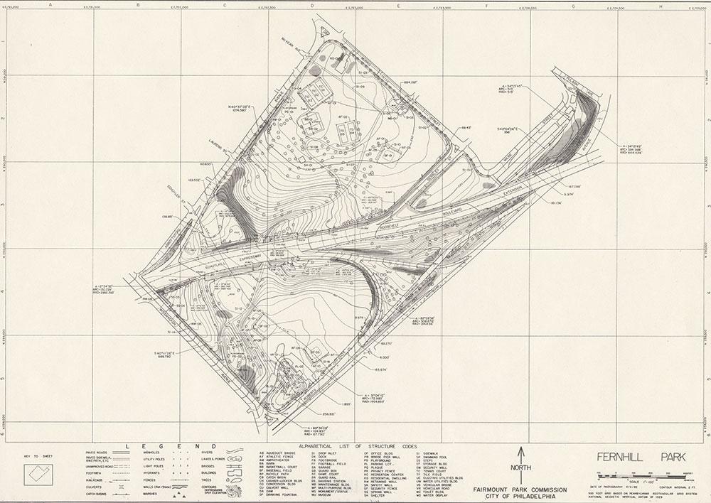 FernHill Park, 1982, Map
