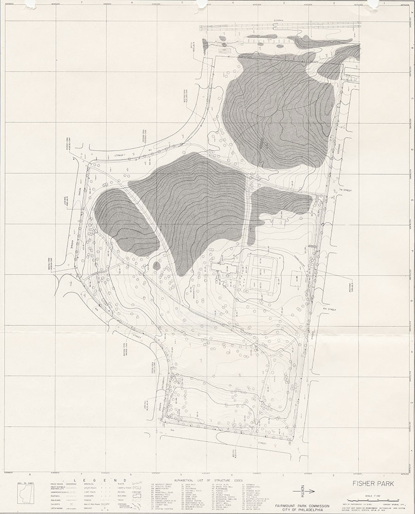 Fisher Park, 1983, Map