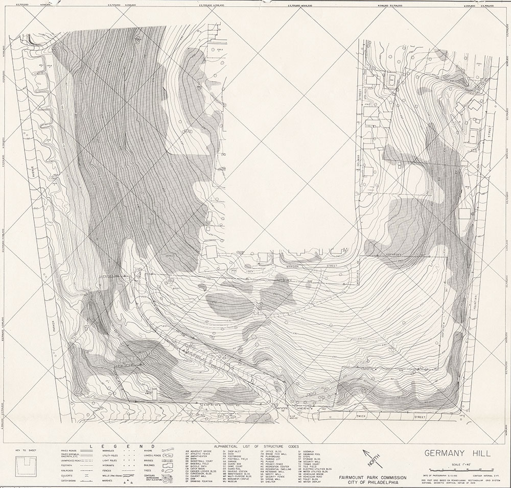 Germany Hill Park, 1983, Map