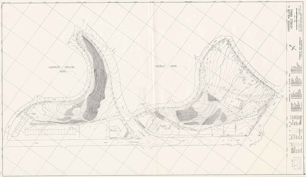 Harpers Hollow & Kemble Parks, 1983, Map