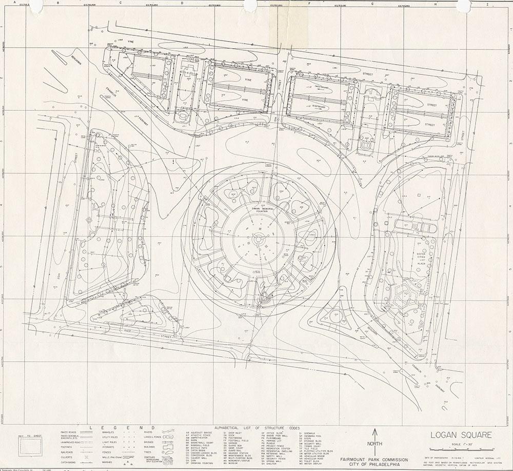 Logan Square, 1983, Map