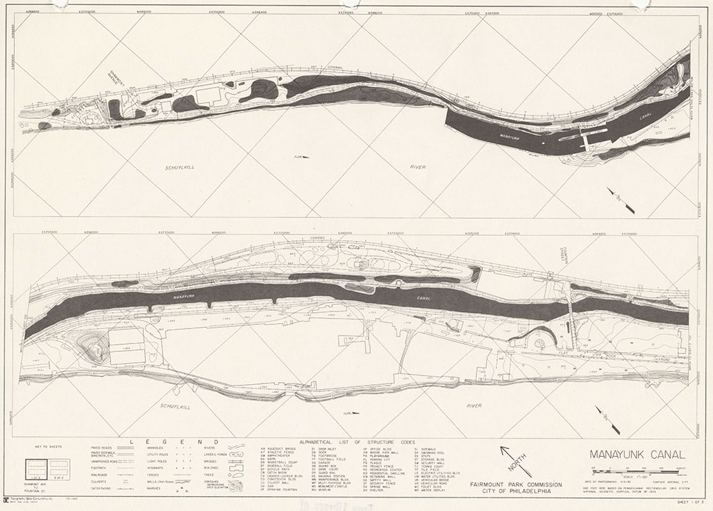 Manayunk Canal, 1982, Map 1