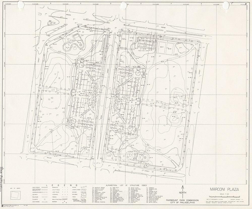 Marconi Plaza, 1983, Map