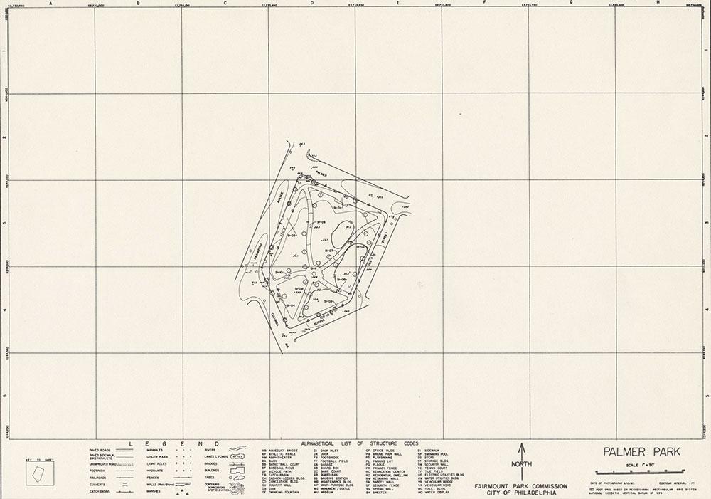 Palmer Park, 1983, Map