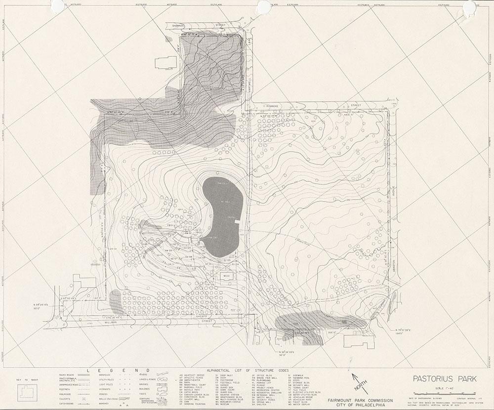 Pastorius Park, 1983, Map