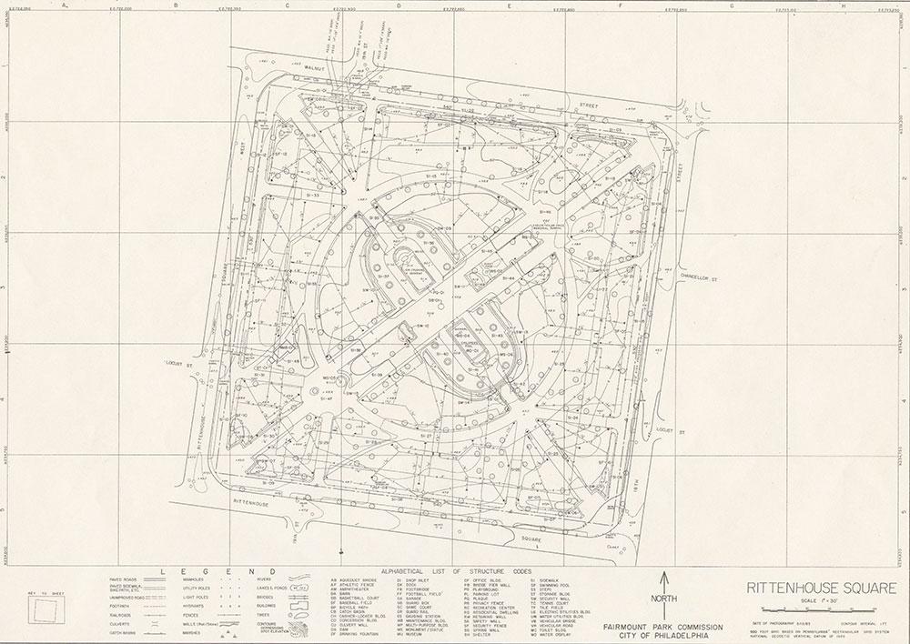 Rittenhouse Square, 1983, Map
