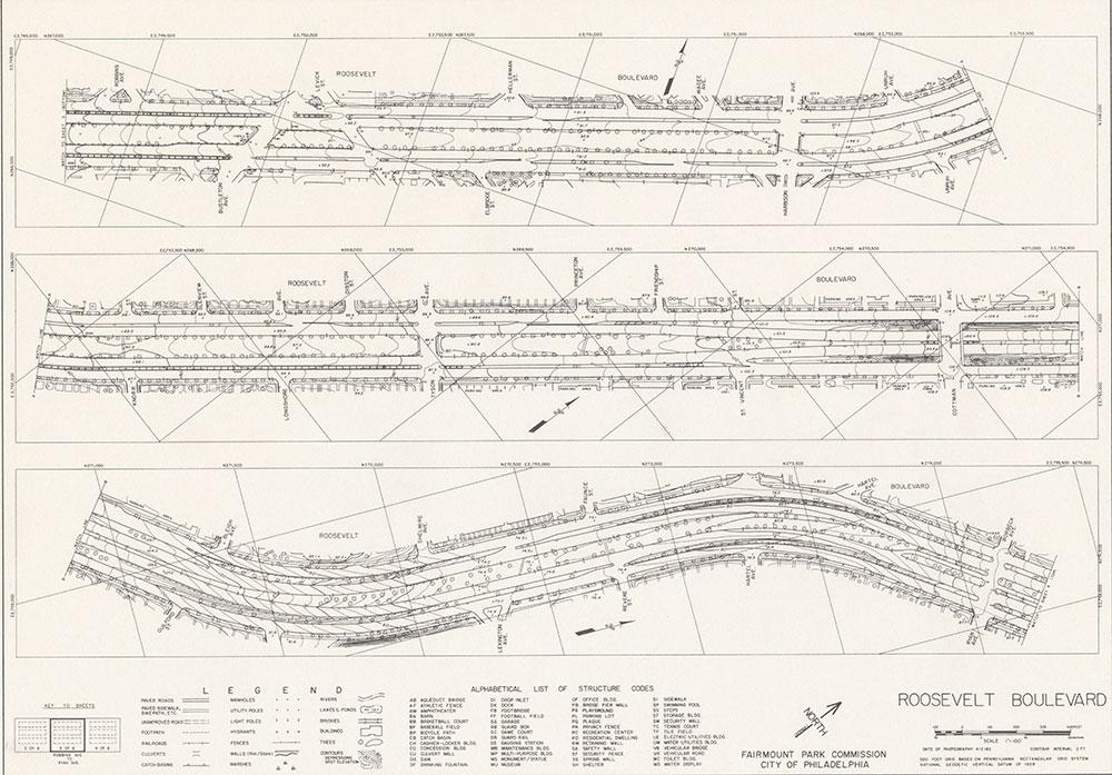 Roosevelt Boulevard, 1982, Map 3