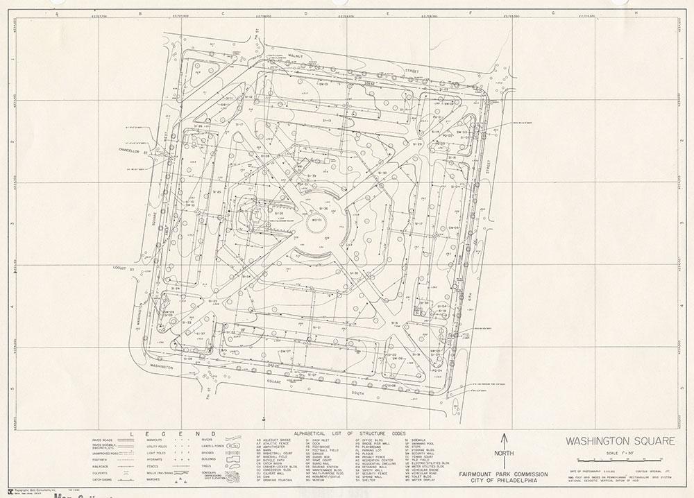 Washington Square, 1983, Map