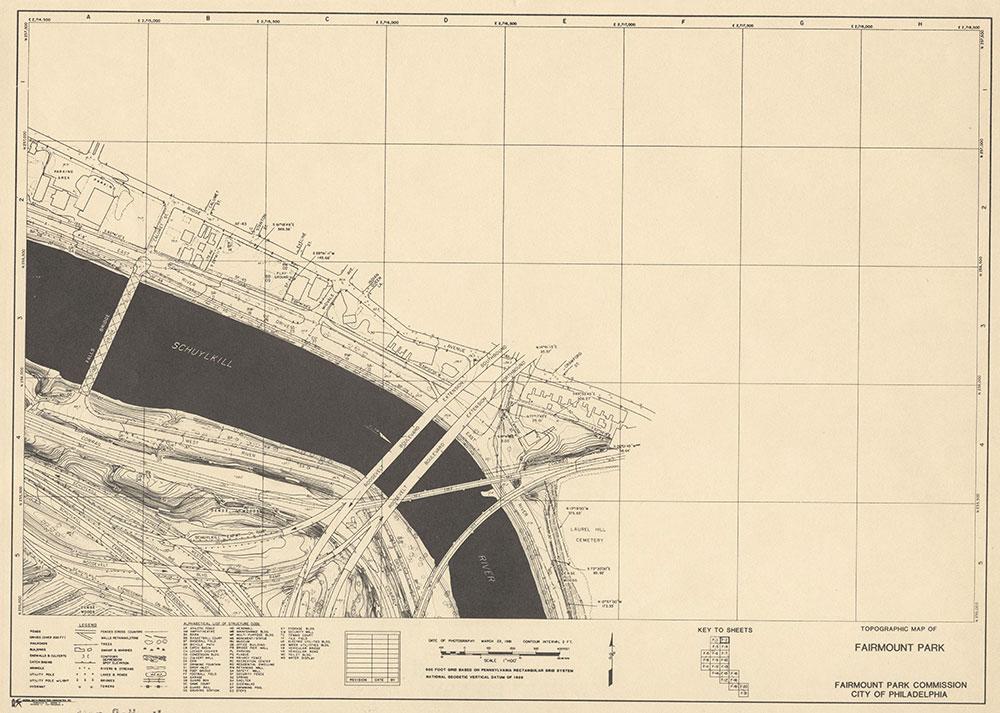 Fairmount Park, 1981, Map F-2