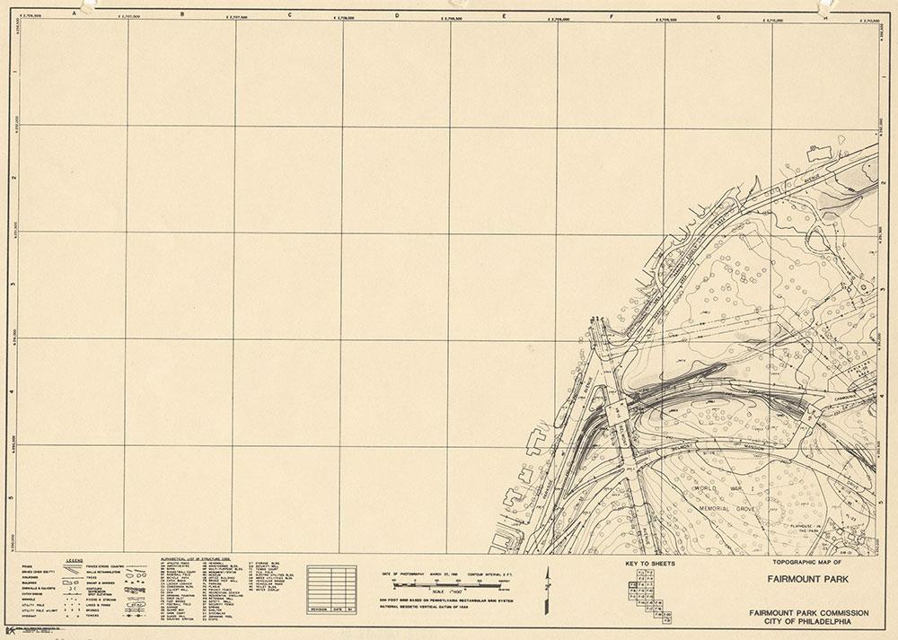 Fairmount Park, 1981, Map F-5