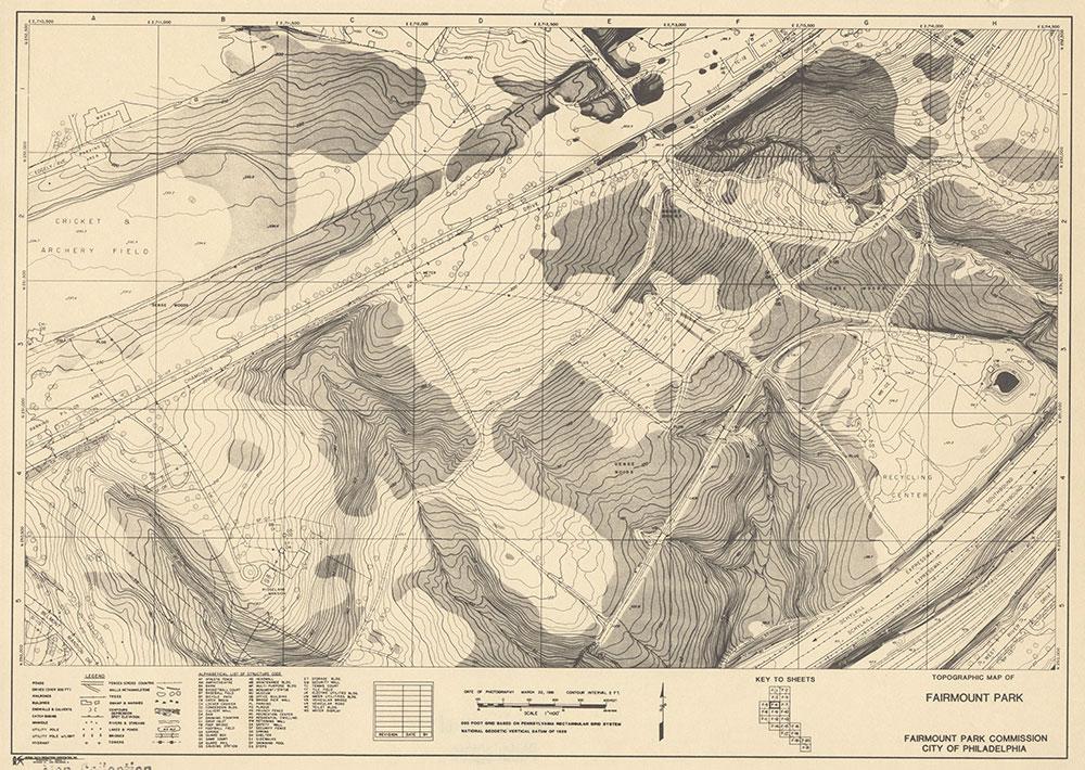 Fairmount Park, 1981, Map F-6